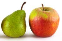 Äpfel / Birnen